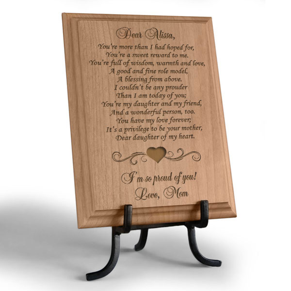 My Sweet Daughter Wooden Plaque