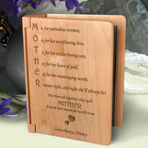 Mother Means Wooden Photo Album