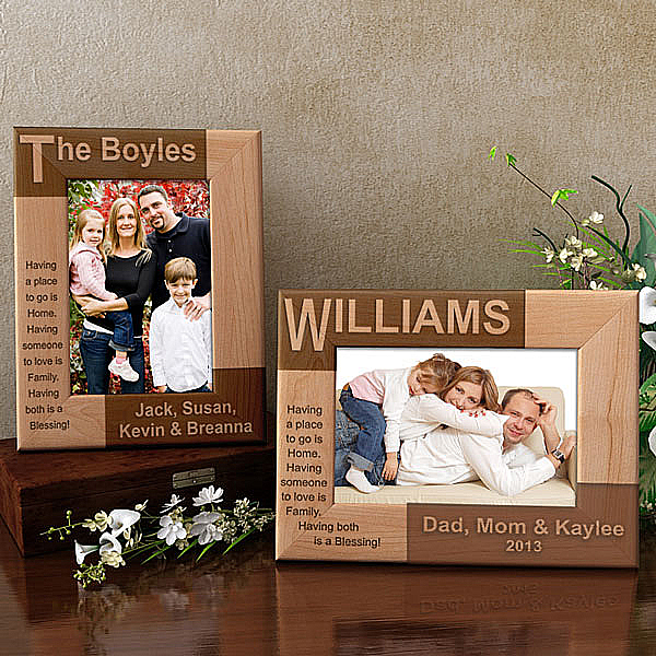 Family Name Wooden Picture Frame