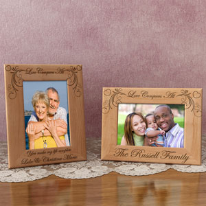 Love Conquers All Wooden Picture Frame