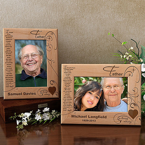 In Memory of My Father Wooden Picture Frame