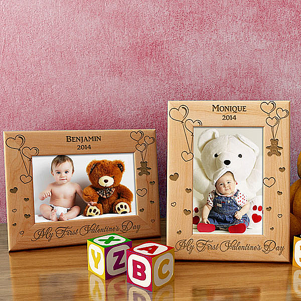 My Beary First Valentine's Day Wooden Picture Frame