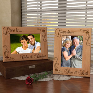 Love is...Wooden Picture Frame