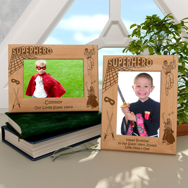 Superhero Wooden Picture Frame