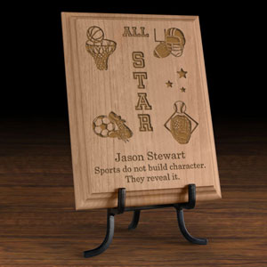 All-Star Sports Wooden Plaque