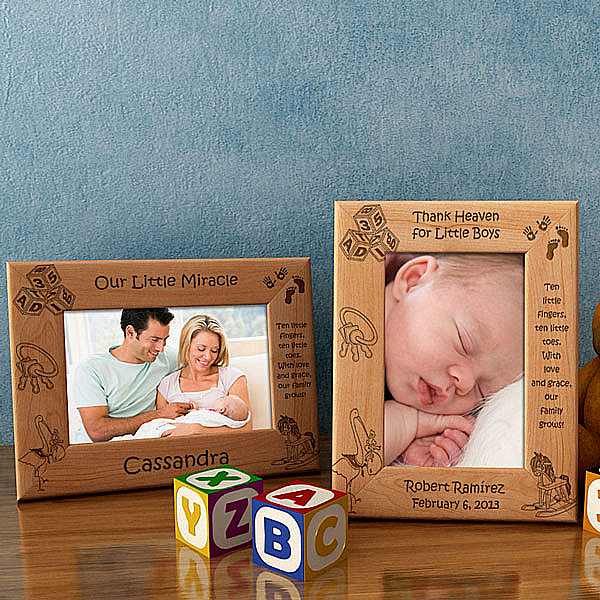 Ten Little Fingers & Ten Little Toes Wooden Picture Frame