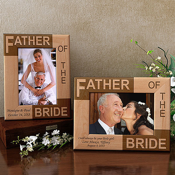 To My Mom & Dad on My Wedding Day Wooden Picture Frame