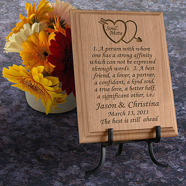 Soul Mate Definition Wooden Plaque