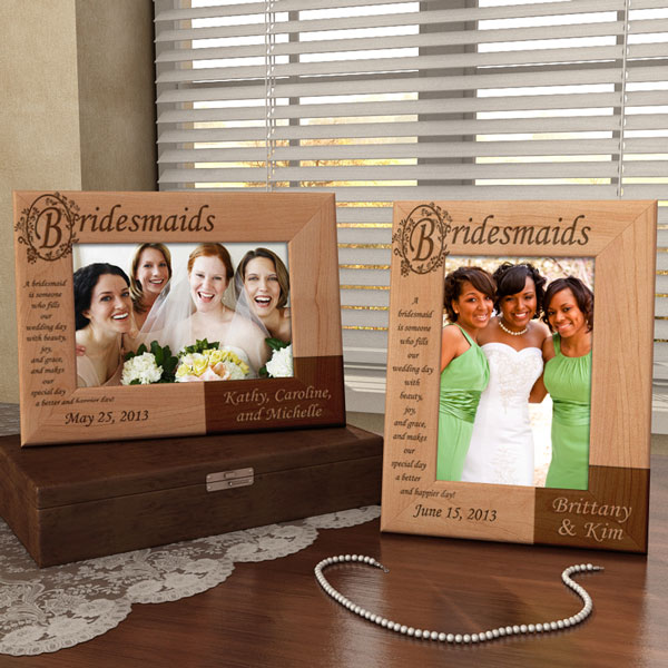 Bridesmaids Poem Wooden Picture Frame