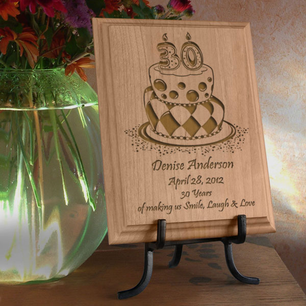 Birthday Cake Wooden Plaque