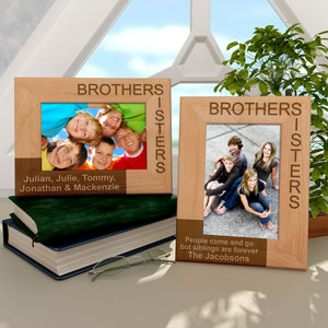 Brothers & Sisters Wooden Picture Frame