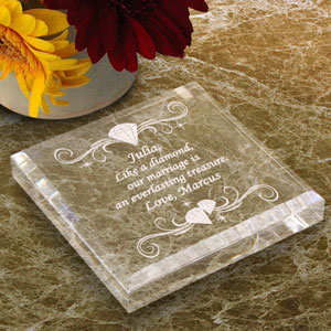 Diamond Keepsake & Paperweight