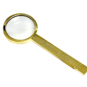 Gold Handheld Magnifying Glass