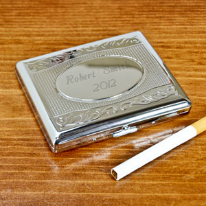 Decorative Silver Cigarette Case