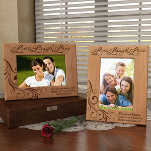 A Life of Love and Laughter Wooden Picture Frame