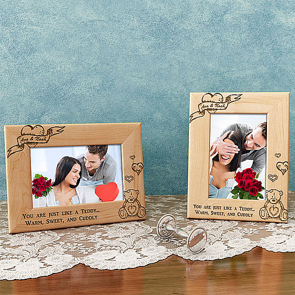 Teddy Bear Wooden Picture Frame