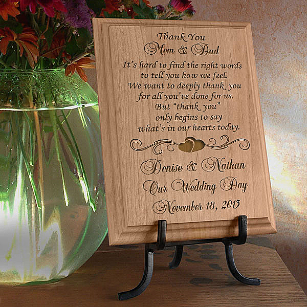 Thank You on My Special Day Wooden Plaque