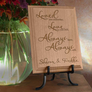 Love You Always Wooden Plaque