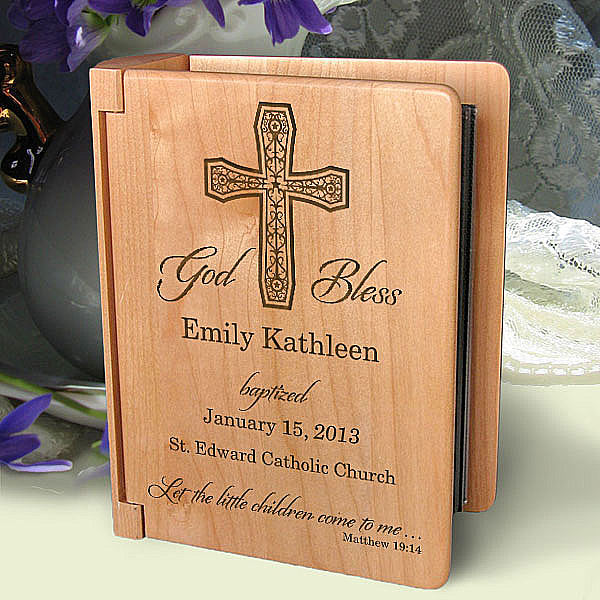 On Your Baptism Day Wooden Photo Album