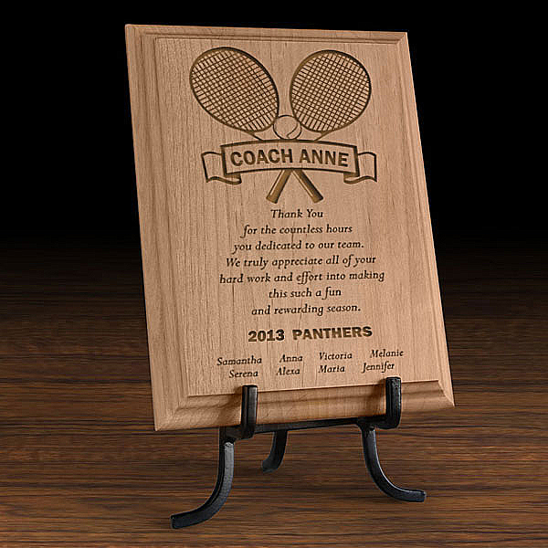 Our Tennis Coach Wooden Plaque