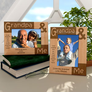 Grandpa & Me Wooden Picture Frame