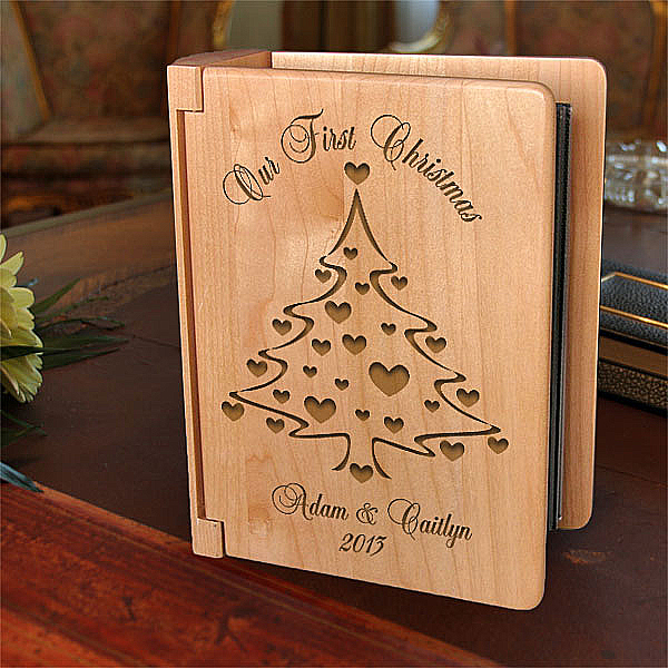 Christmas Tree Wooden Photo Album