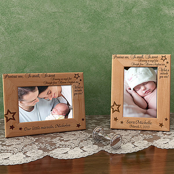 What a Miracle You Are Wooden Picture Frame