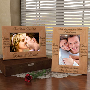 Always Kiss Me Goodnight Wooden Picture Frame