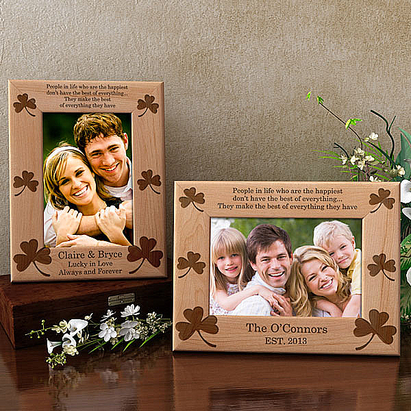 Shamrock Wooden Picture Frame