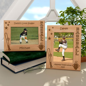 Baseball Wooden Picture Frame