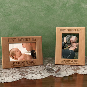 1st Father's Day Wooden Picture Frame