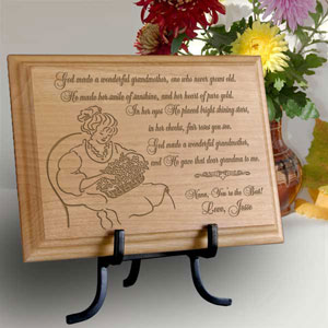 My Wonderful Grandmother Wooden Plaque
