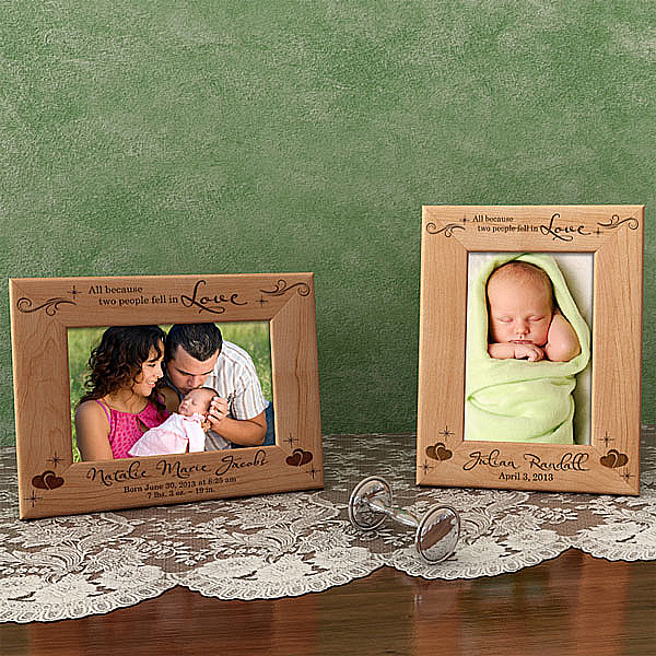 Two People Fell in Love Wooden Picture Frame