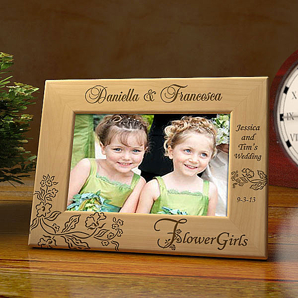Our Flower Girls Wooden Picture Frame