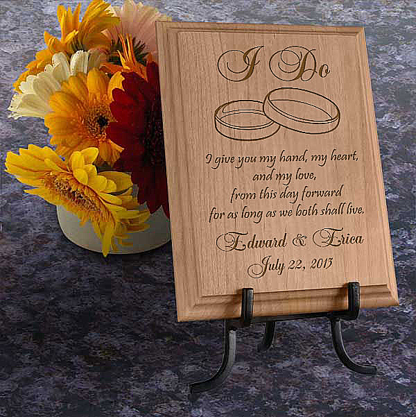 I Do Wooden Plaque