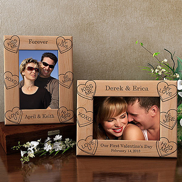 Candy Hearts Wooden Picture Frame