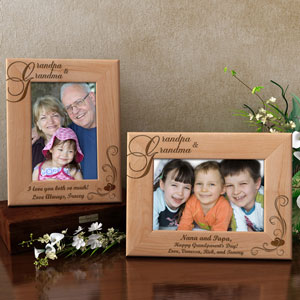 My Grandma and Grandpa Wooden Picture Frame