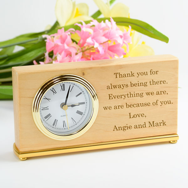 Alder Rectangle Desk Clock