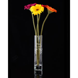 Elegant Glass Vase with Scrolls