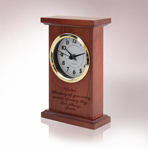 Red Wood Quartz Clock