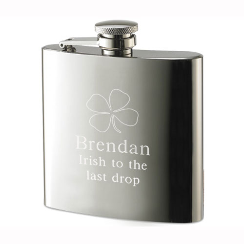 Four-Leaf Clover Stainless Steel Flask