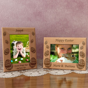 Easter Eggs Wooden Picture Frame