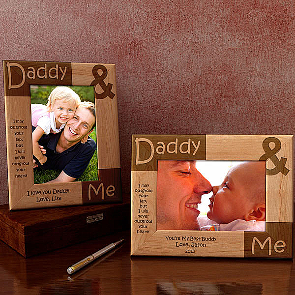 Daddy and Me Wooden Picture Frame