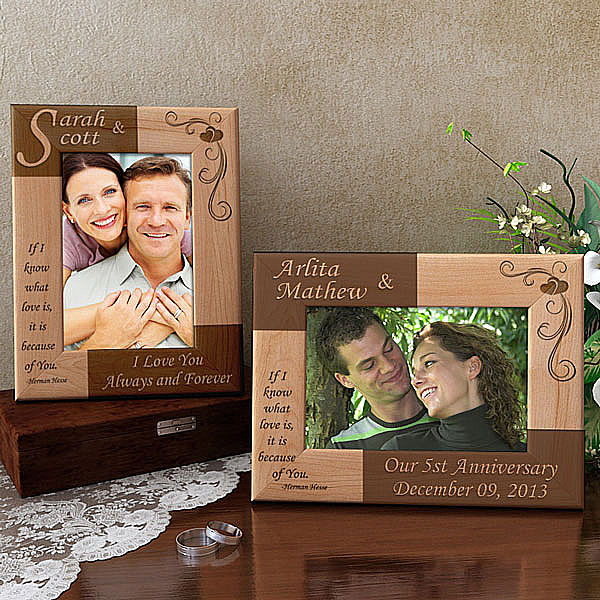 Same Initial Wooden Picture Frame