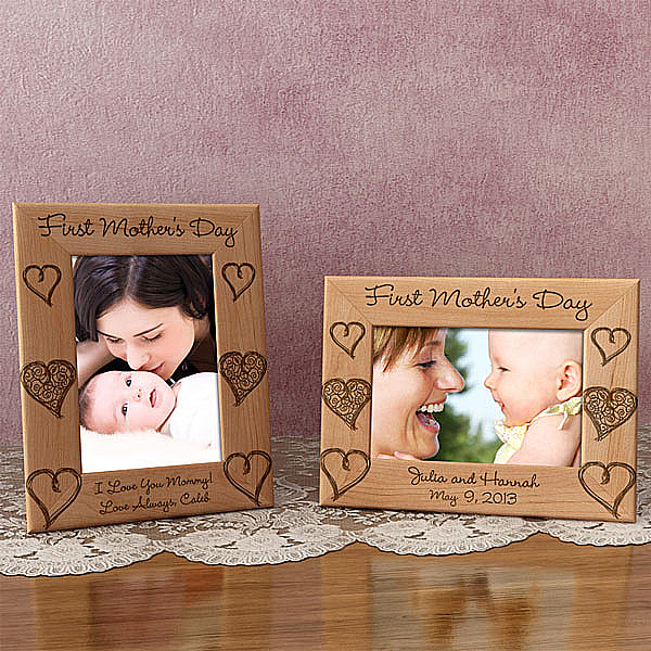 1st Mother's Day Wooden Picture Frame