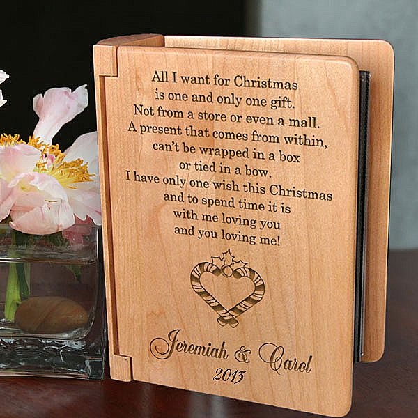 You & I During Christmas Time Wooden Photo Album