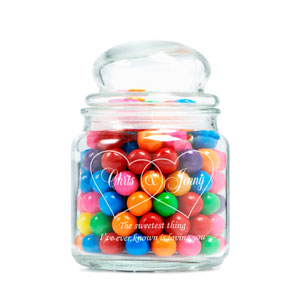 The Sweetest Couple Glass Jar
