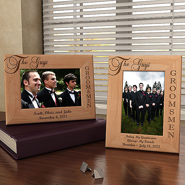 The Guys, The Groomsmen Wooden Picture Frame