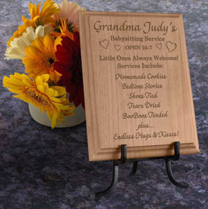 Babysitting Service Wooden Plaque