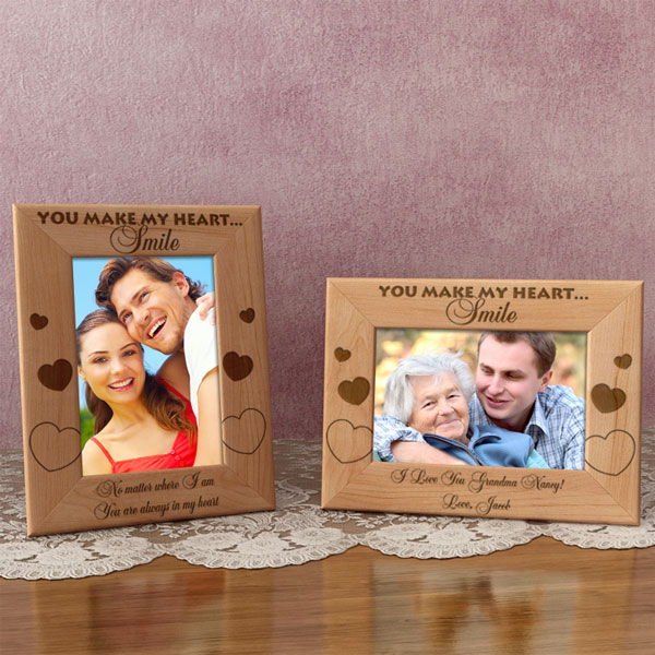 You Make My Heart Smile Wooden Picture Frame